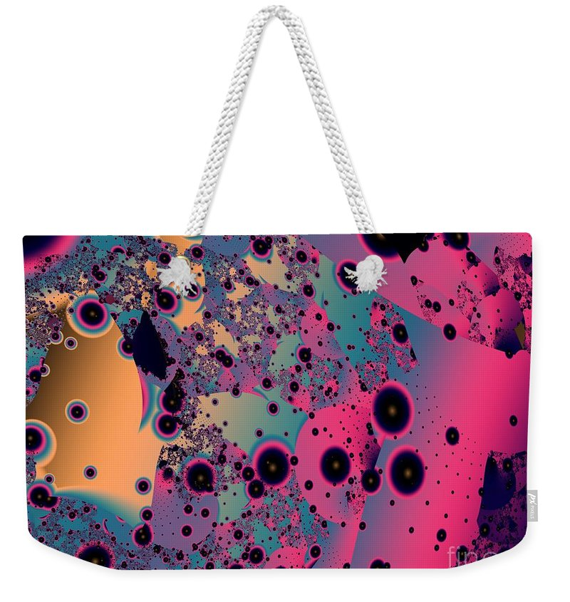 Fractal Art Weekender Tote Bag featuring the digital art Circumstellar Dust by Ron Bissett
