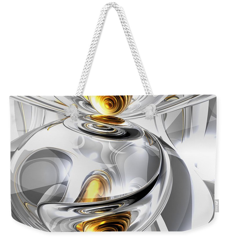 3d Weekender Tote Bag featuring the digital art Circumvoluted Abstract by Alexander Butler
