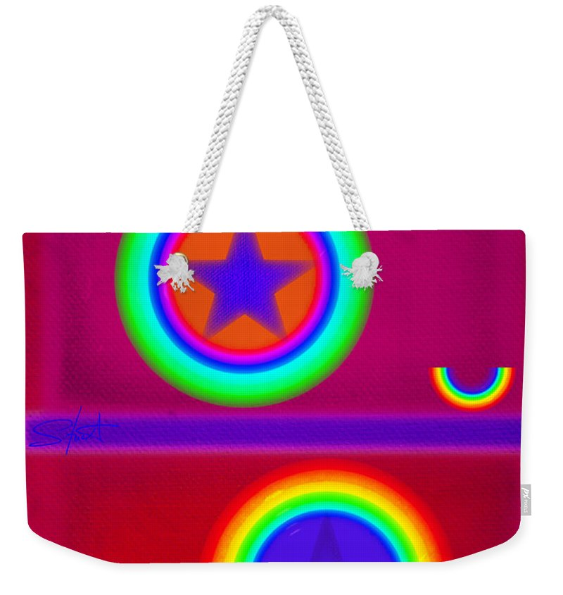 Balance Weekender Tote Bag featuring the painting Circus Act by Charles Stuart