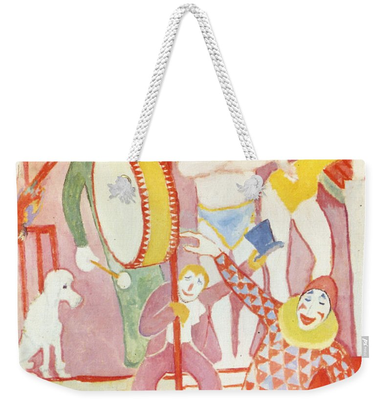 August Macke Weekender Tote Bag featuring the painting Circus by August Macke