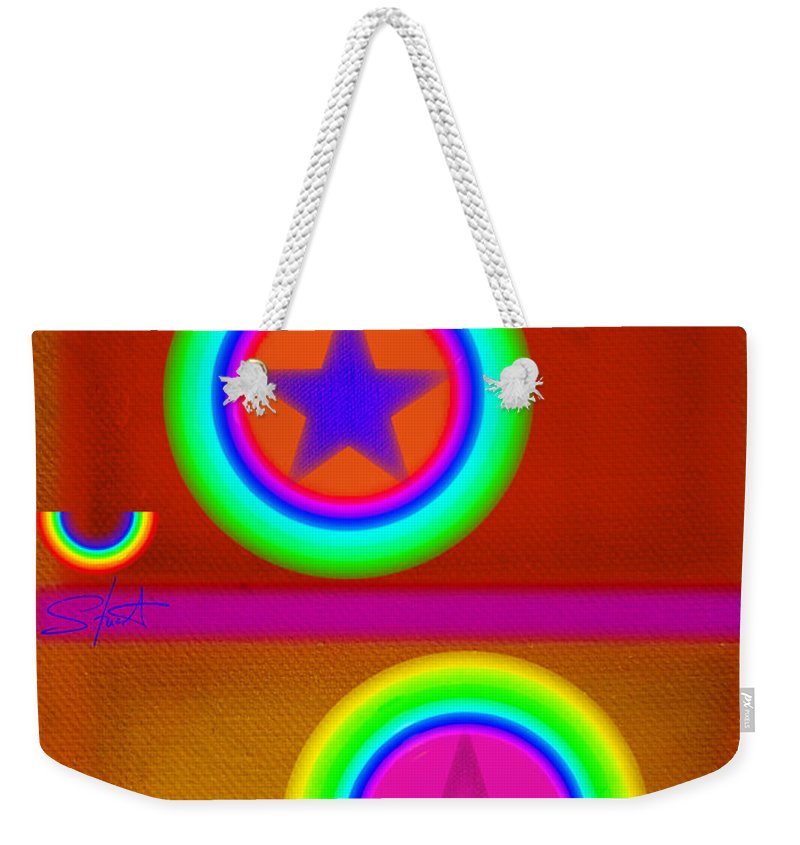 Balance Weekender Tote Bag featuring the painting Circus Balls by Charles Stuart