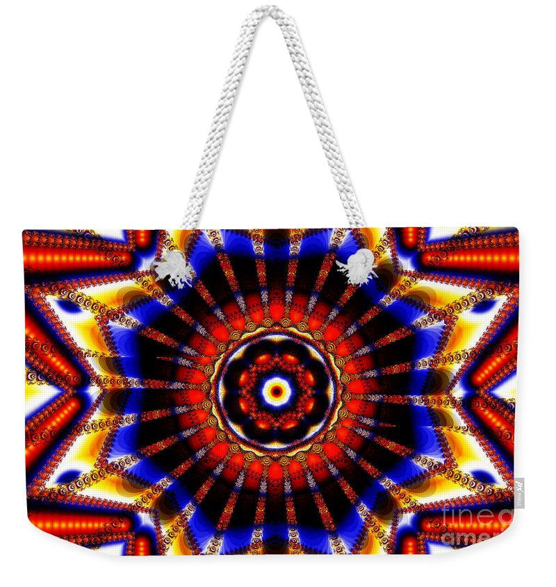 Clay Weekender Tote Bag featuring the digital art Circus by Clayton Bruster
