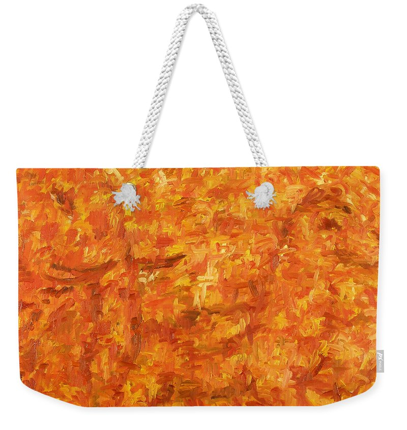 Pony Weekender Tote Bag featuring the painting Circus by Robert Nizamov
