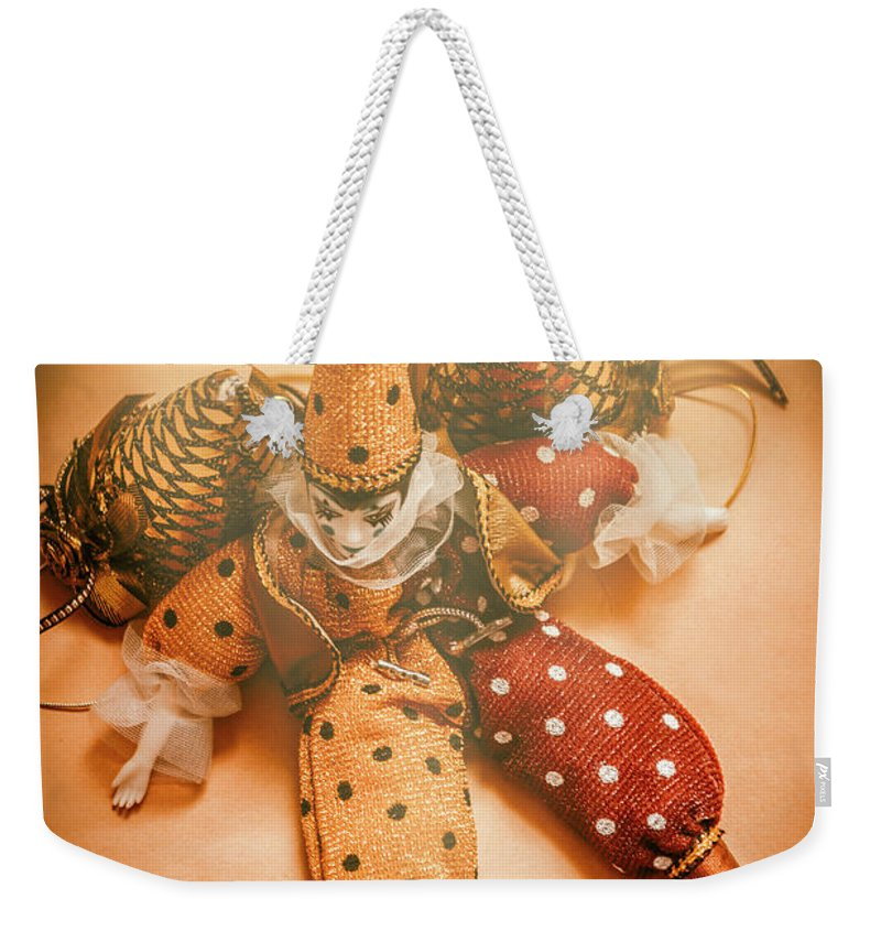 Clown Weekender Tote Bag featuring the photograph Circus Stage Spotlight by Jorgo Photography - Wall Art Gallery