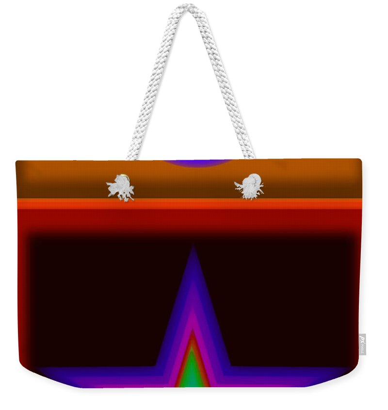 Classical Weekender Tote Bag featuring the digital art Circus Star by Charles Stuart