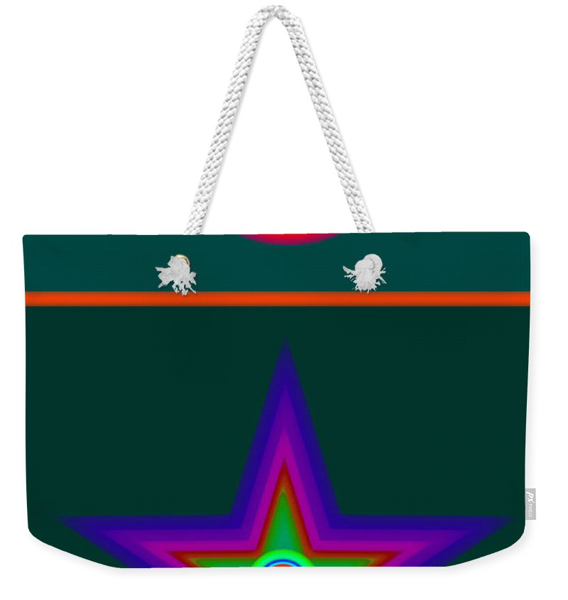 Circus Weekender Tote Bag featuring the digital art Circus Vert by Charles Stuart