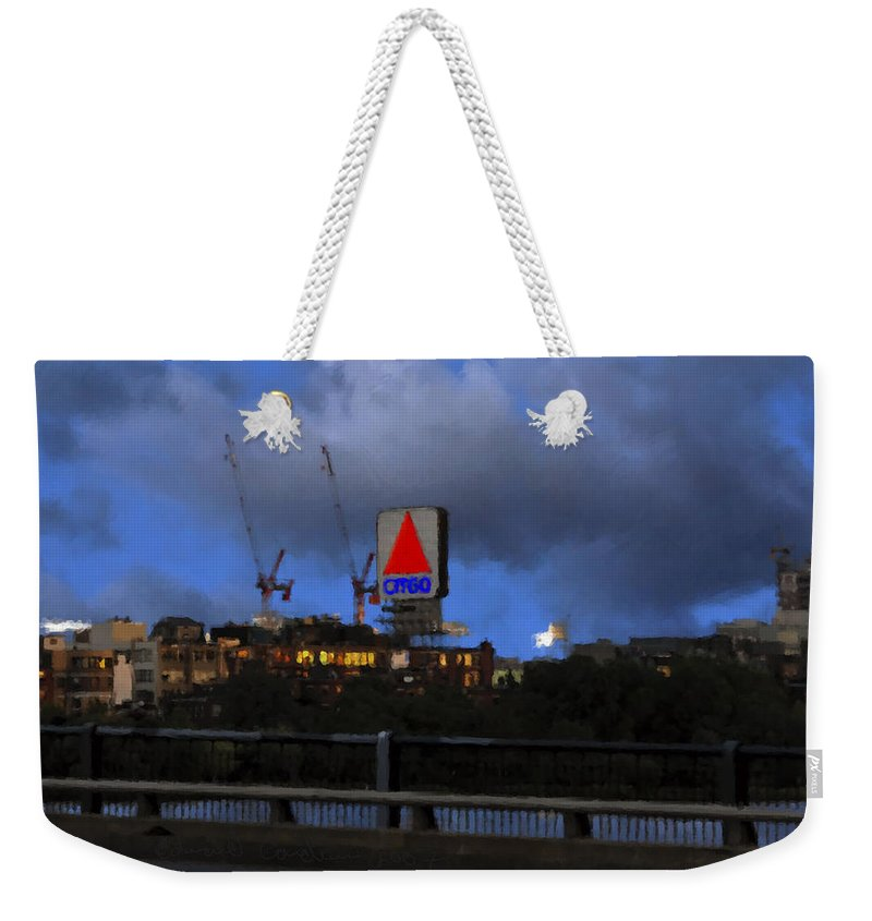 Citgo Sign Weekender Tote Bag featuring the digital art Citgo Sign by Edward Cardini