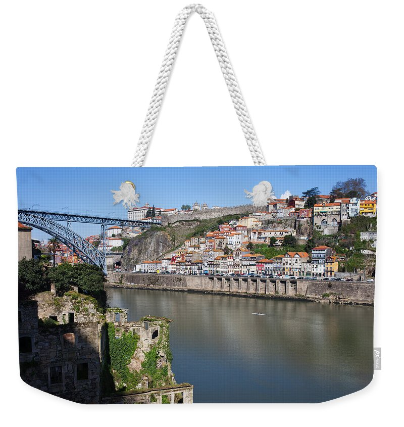 Porto Weekender Tote Bag featuring the photograph Cities Of Porto And Gaia In Portugal by Artur Bogacki