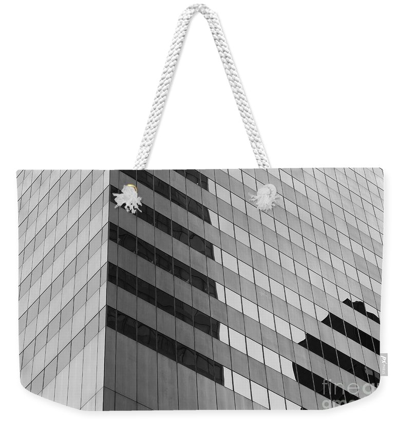Clarence Holmes Weekender Tote Bag featuring the photograph Citigroup Facade IIi by Clarence Holmes