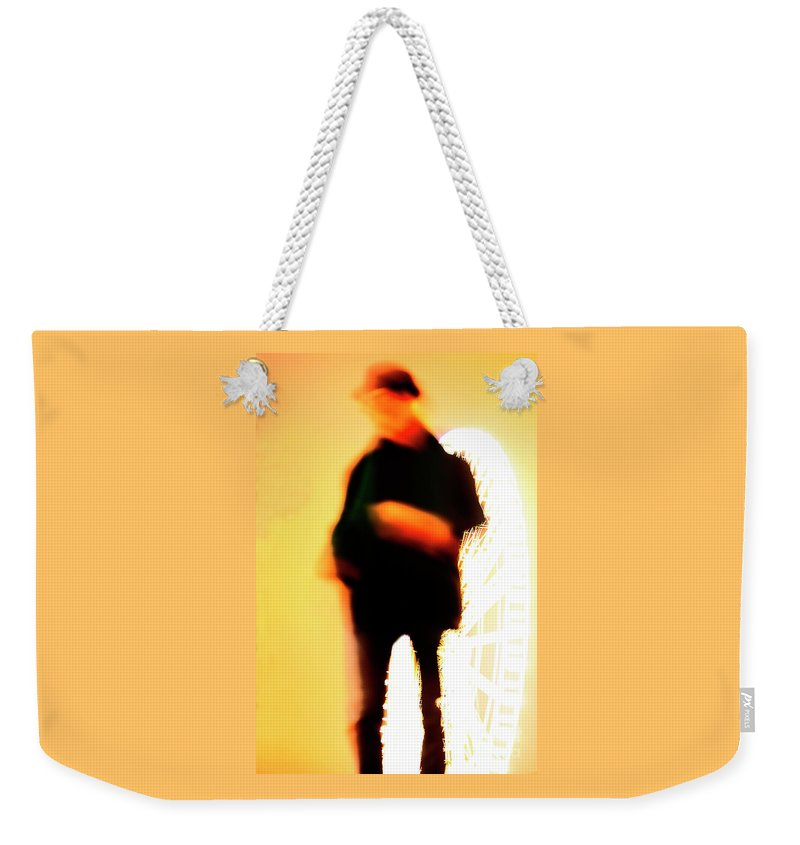 City Angel Weekender Tote Bag featuring the photograph City Angel. by Alexander Vinogradov