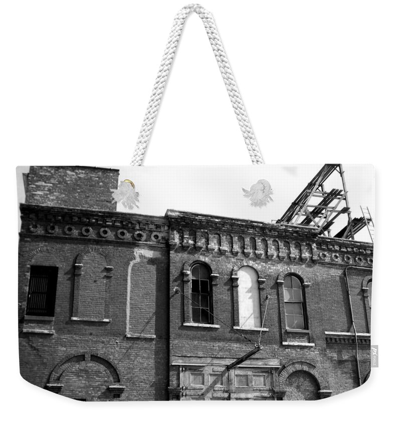Milwaukee Weekender Tote Bag featuring the photograph City Decay 1 by Anita Burgermeister