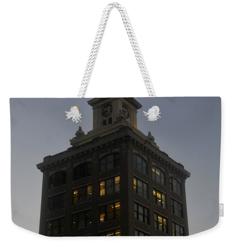 City Hall Weekender Tote Bag featuring the photograph City Hall by David Lee Thompson