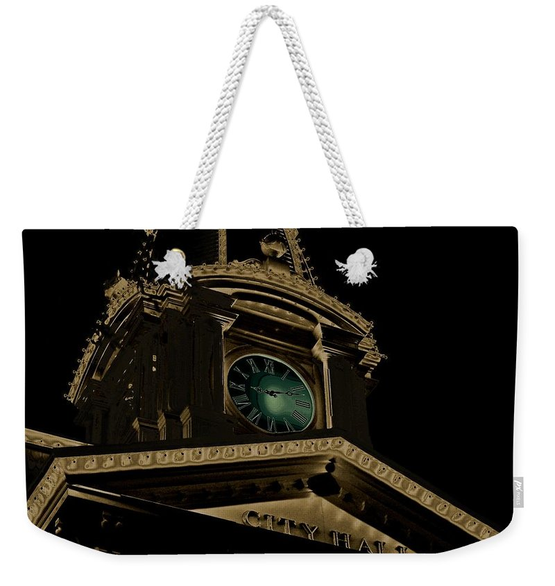City Hall Weekender Tote Bag featuring the photograph City Hall by Robert Meanor