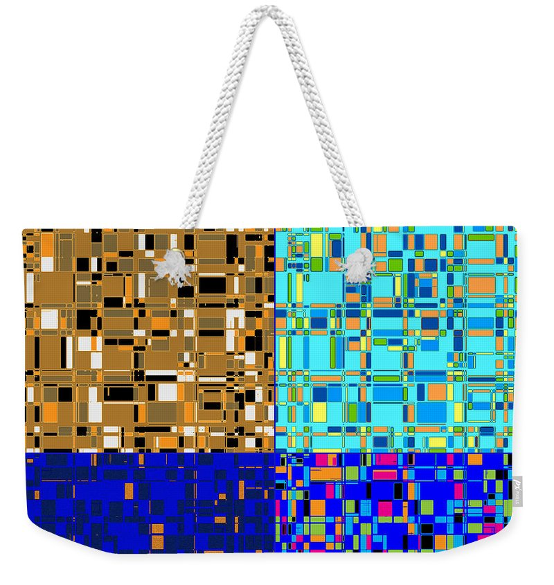 Joy Mckenzie Weekender Tote Bag featuring the digital art City Life Series No. 5 by Joy McKenzie