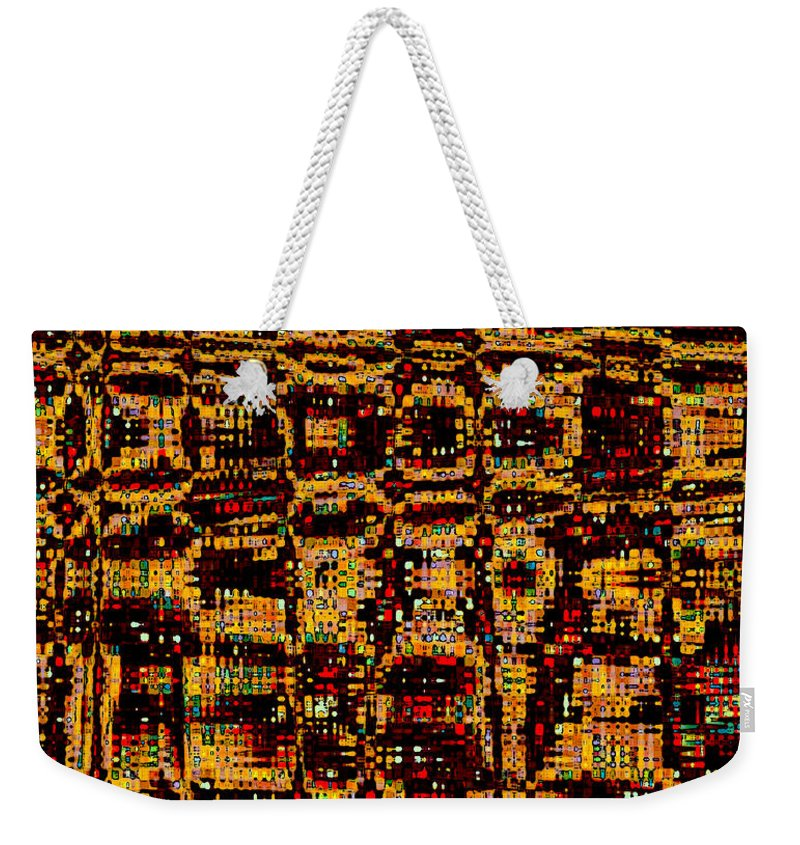 Weekender Tote Bag featuring the digital art City Lights by Ruth Palmer