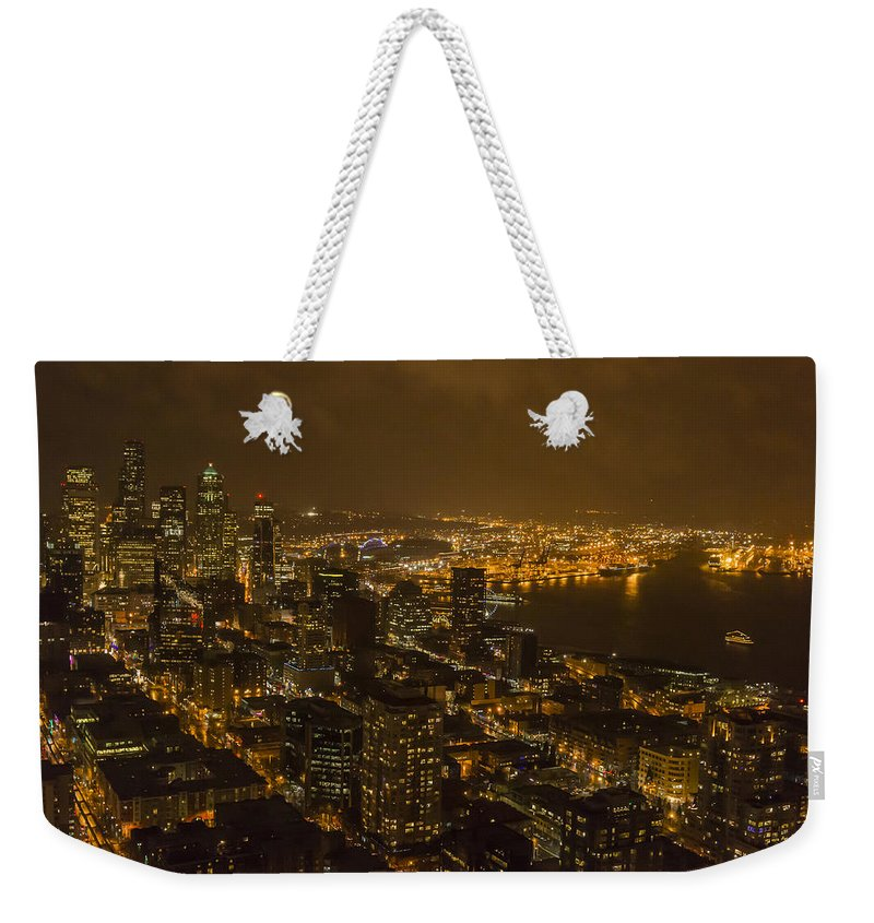 Cities Weekender Tote Bag featuring the photograph City Night by Robert Potts