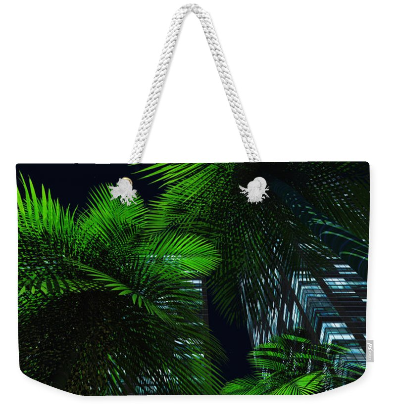 Tropics Weekender Tote Bag featuring the digital art City Nights by Richard Rizzo