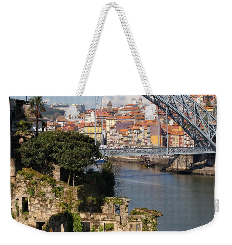 Porto Weekender Tote Bag featuring the photograph City Of Porto In Portugal Picturesque Scenery by Artur Bogacki