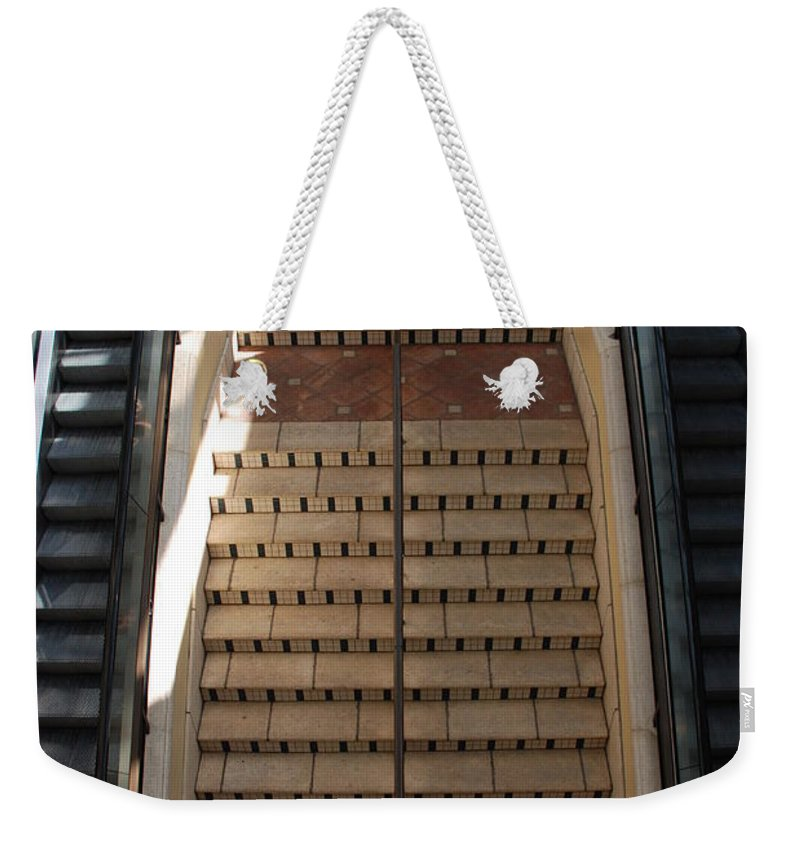 Stairs Weekender Tote Bag featuring the photograph City Place Stairs by Rob Hans