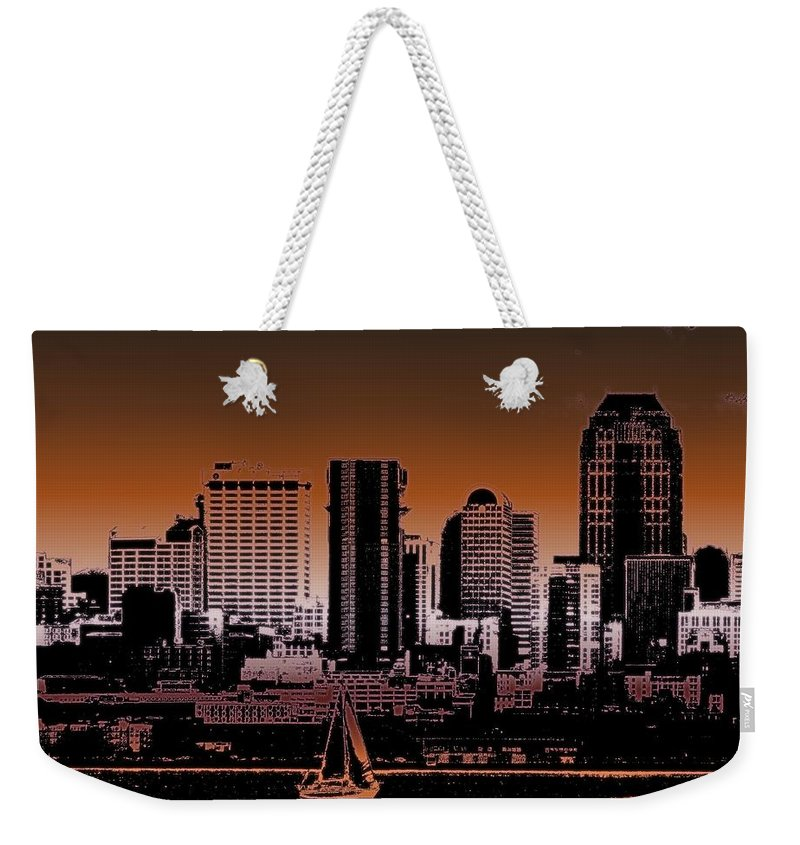Seattle Weekender Tote Bag featuring the photograph City Sailin 2 by Tim Allen