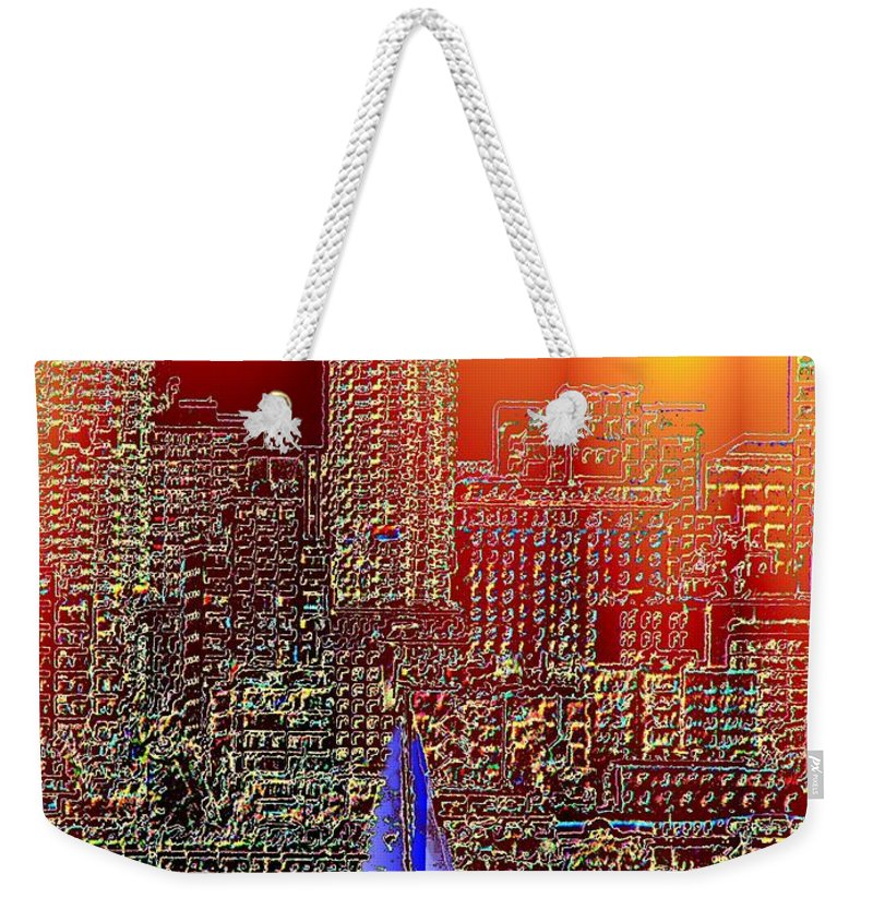 Seattle Weekender Tote Bag featuring the photograph City Sailin by Tim Allen