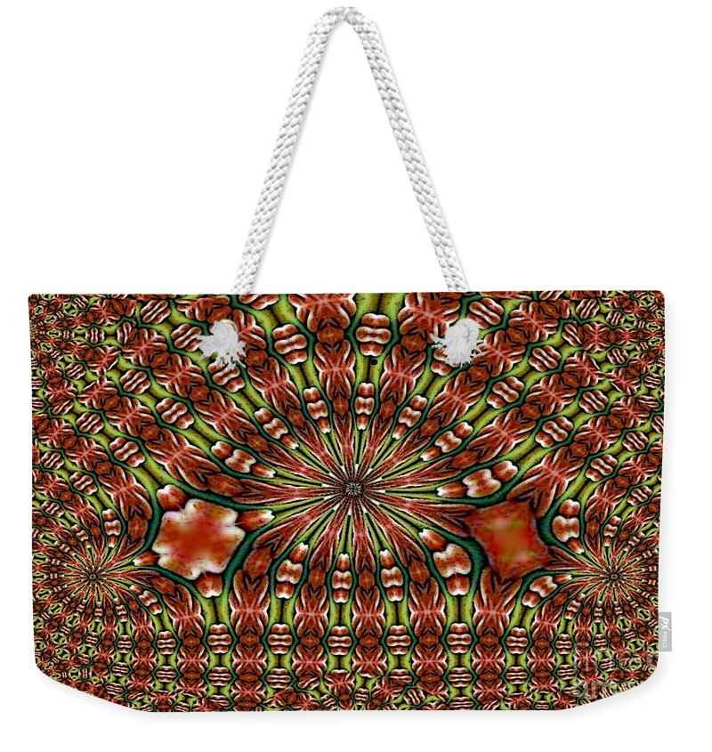 City Weekender Tote Bag featuring the digital art City Series by Ron Bissett