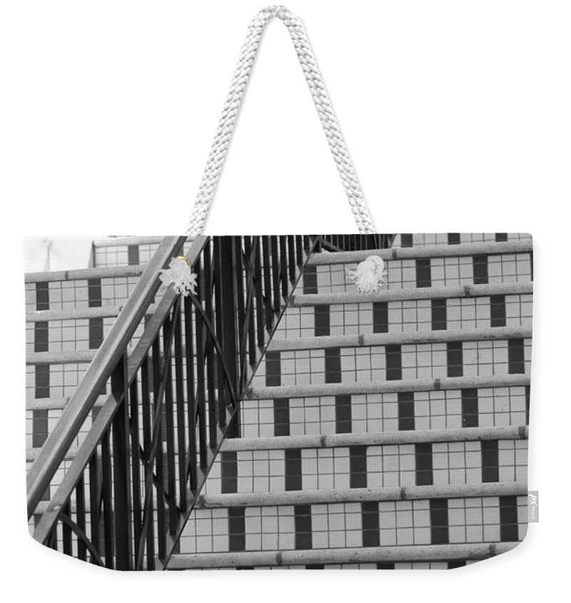 Architecture Weekender Tote Bag featuring the photograph City Stairs II by Rob Hans