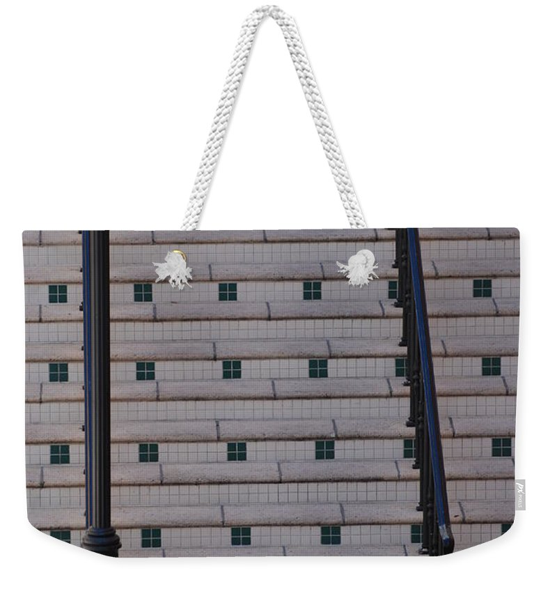 Architecture Weekender Tote Bag featuring the photograph City Stairs by Rob Hans