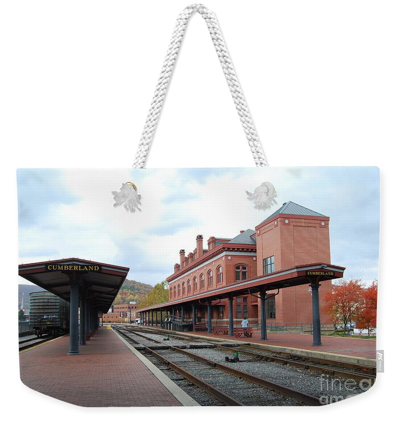 Historic Weekender Tote Bag featuring the photograph Cumberland City Station by Eric Liller