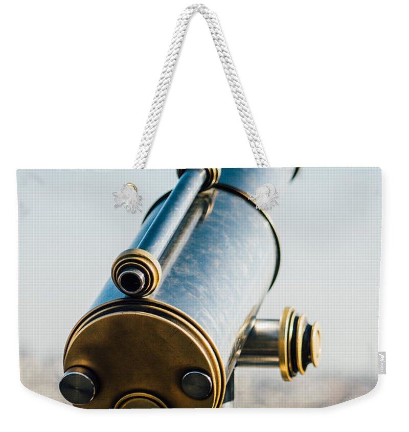 Paris Weekender Tote Bag featuring the photograph City Telescope by Pati Photography