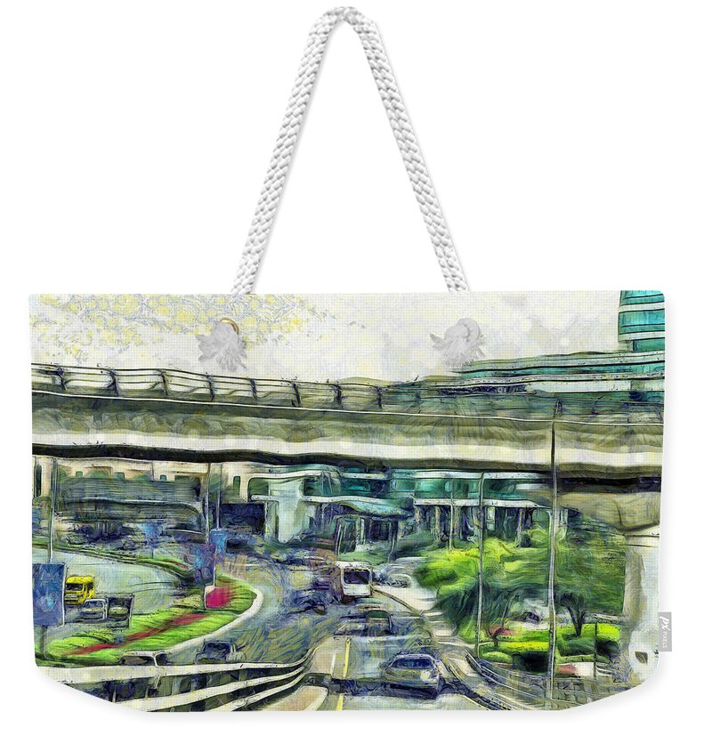 Vehicles Weekender Tote Bag featuring the photograph City Traffic by Ashish Agarwal