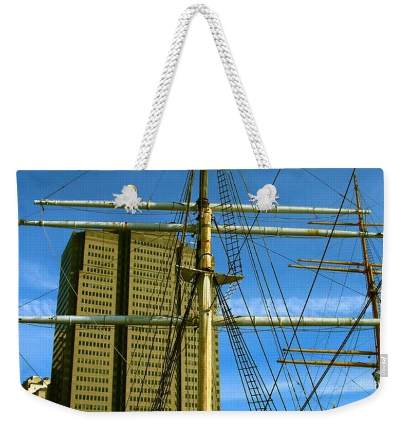 New York City Weekender Tote Bag featuring the photograph City View by Robert McCulloch