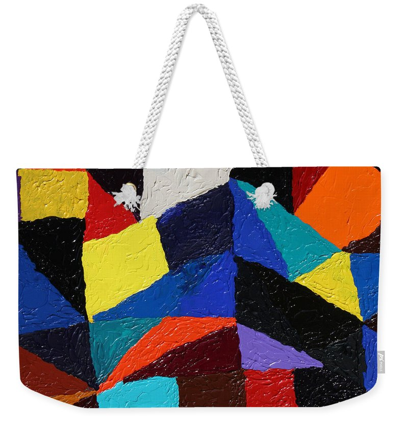 Fusionart Weekender Tote Bag featuring the painting Cityscape by Ralph White