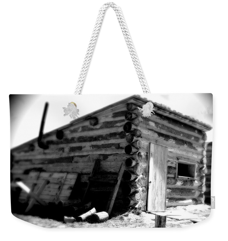 Army Weekender Tote Bag featuring the photograph Civil War Cabin 1 Army Heritage Education Center by Jean Macaluso
