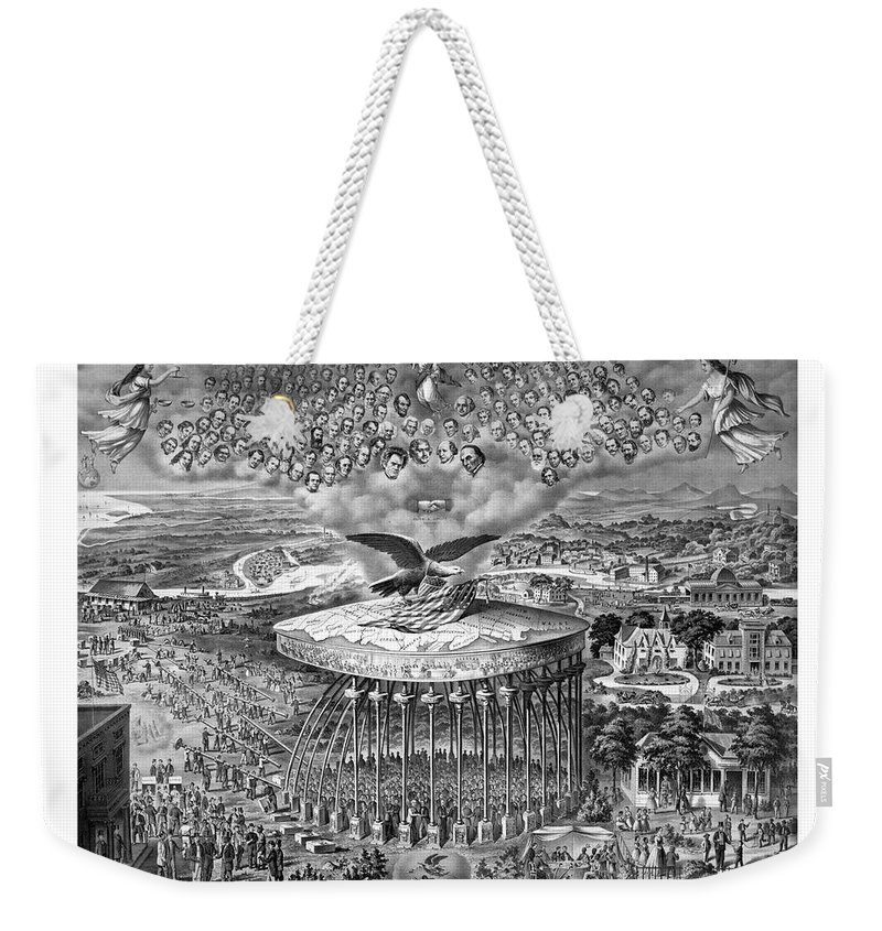 Civil War Weekender Tote Bag featuring the painting Civil War Reconstruction by War Is Hell Store