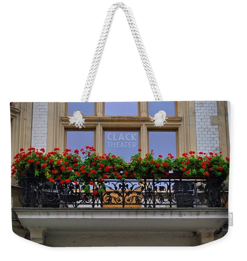 Wittenberg Weekender Tote Bag featuring the photograph Clack Theater by Jost Houk