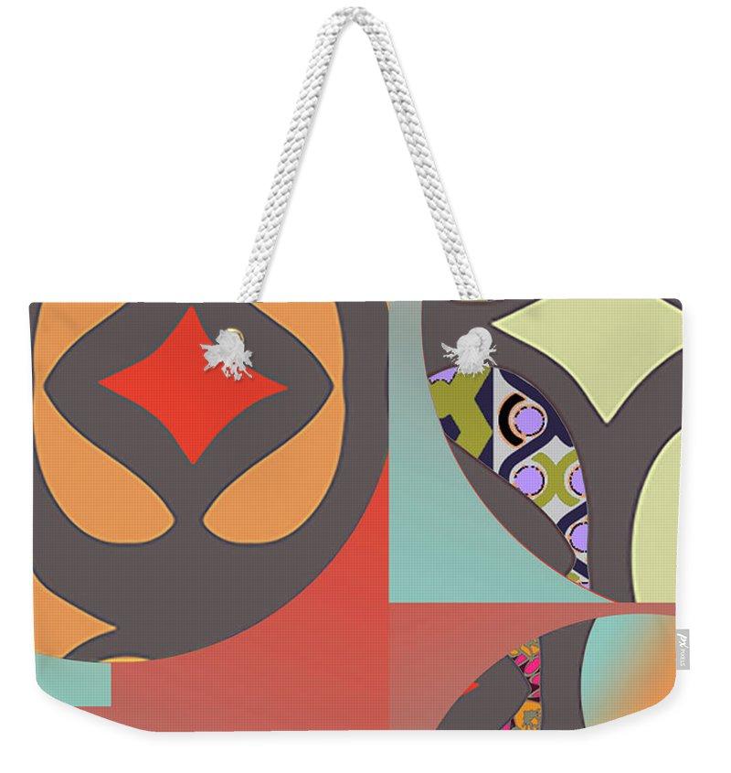 Digital Art Weekender Tote Bag featuring the digital art Claire by Ceil Diskin