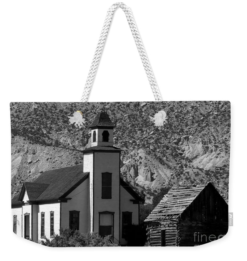 Mormon Weekender Tote Bag featuring the photograph Clapboard Church 1898 by David Lee Thompson