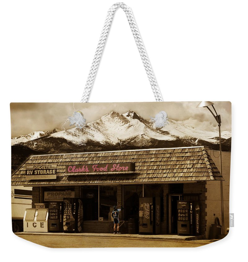 Hygiene Weekender Tote Bag featuring the photograph Clarks Old General Store by James BO Insogna