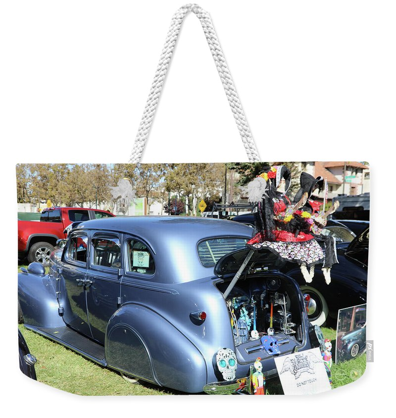 Dia De Los Muertos Weekender Tote Bag featuring the photograph Classic Car Decorations Day Dead by Chuck Kuhn