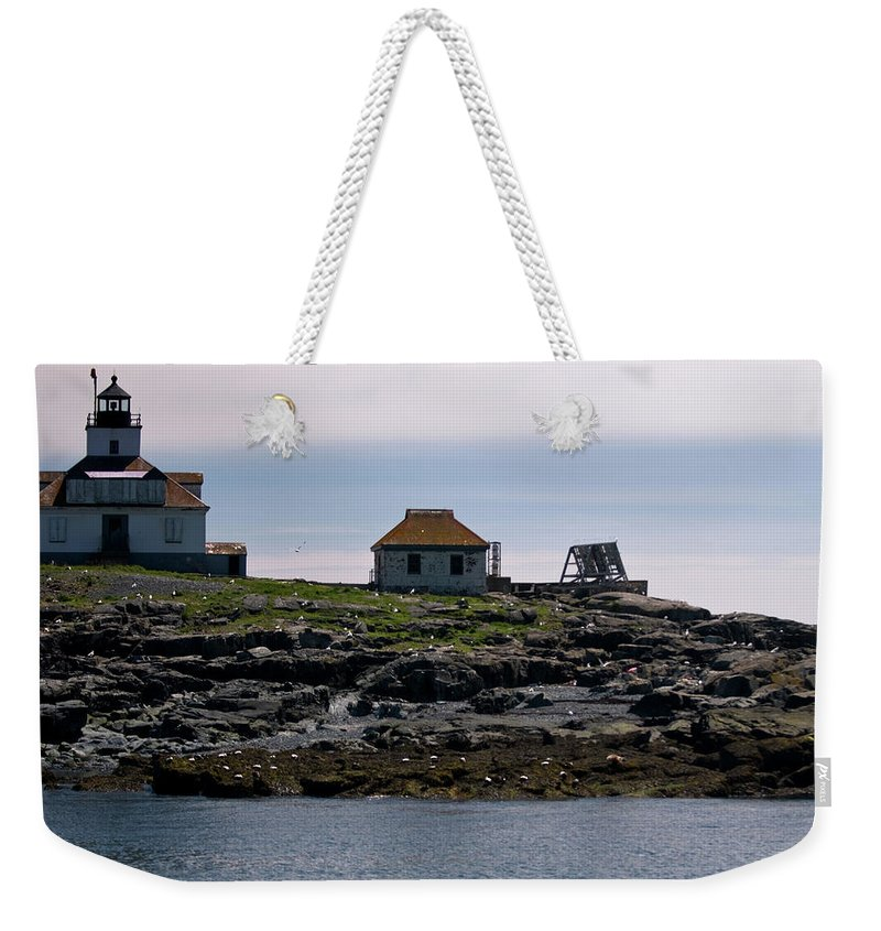 egg Rock Light Weekender Tote Bag featuring the photograph Classic Egg Rock by Paul Mangold
