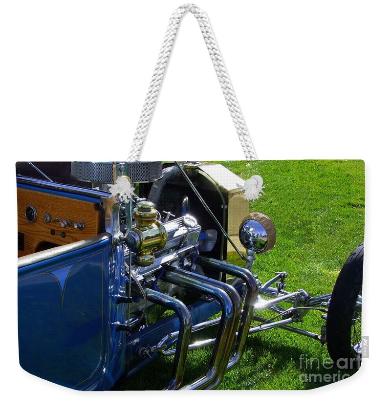 Ford Hotrod Weekender Tote Bag featuring the photograph Classic Ford Hotrod by Mary Deal