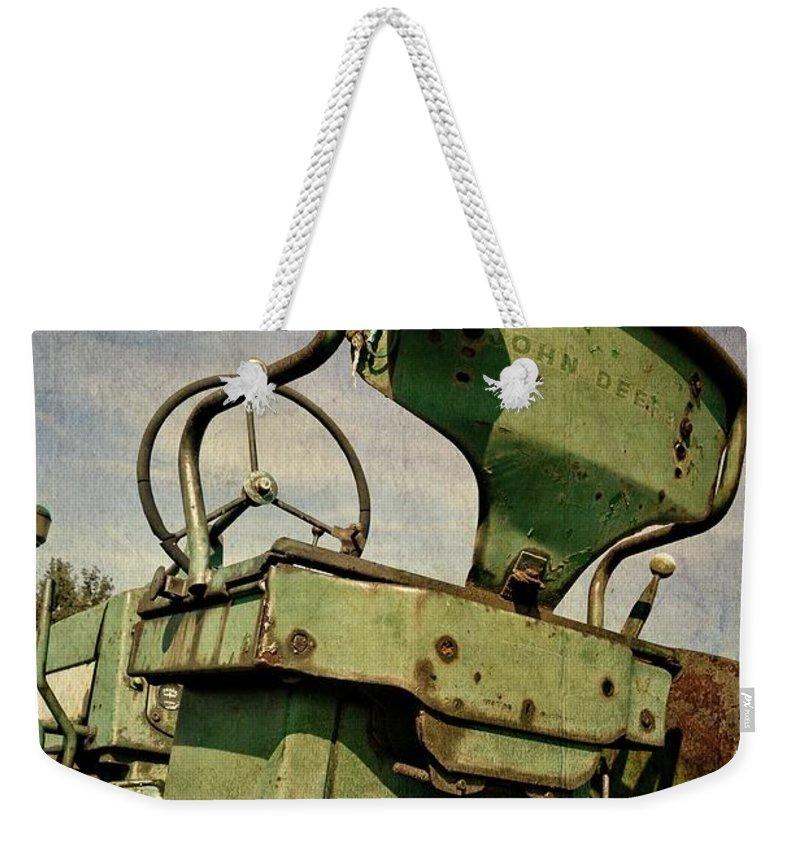 John Deere Weekender Tote Bag featuring the photograph Classic John Deere 3.0 by Michelle Calkins