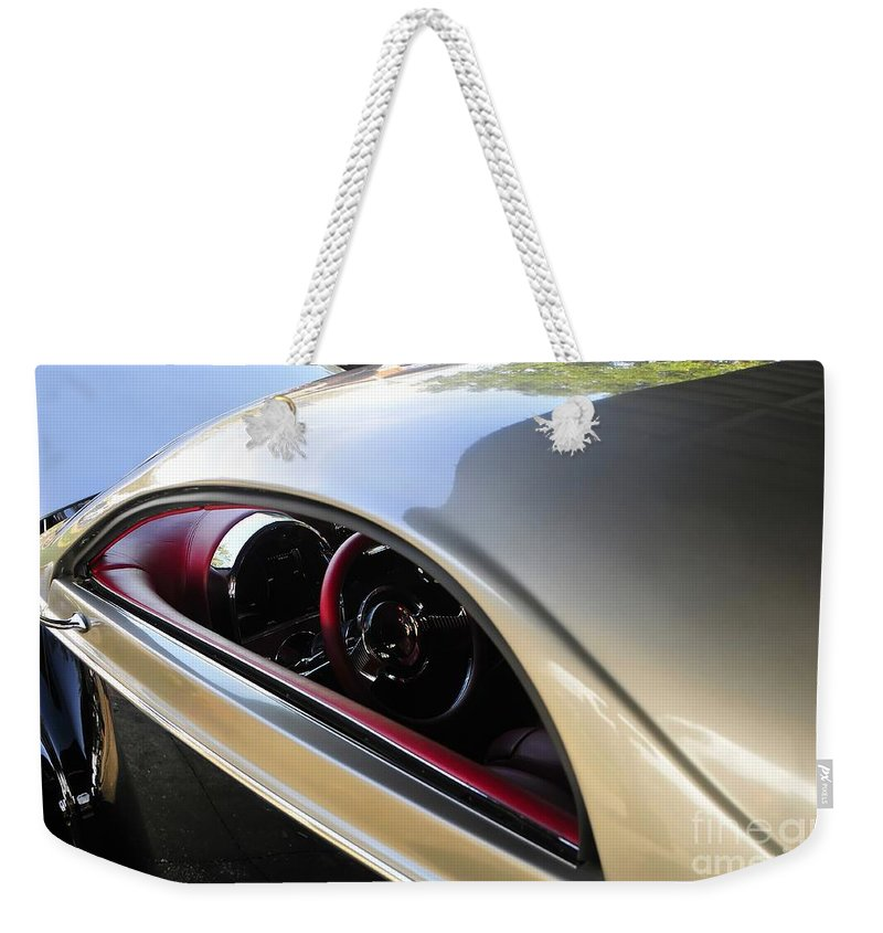 Hot Rod Weekender Tote Bag featuring the photograph Classic Lines by David Lee Thompson