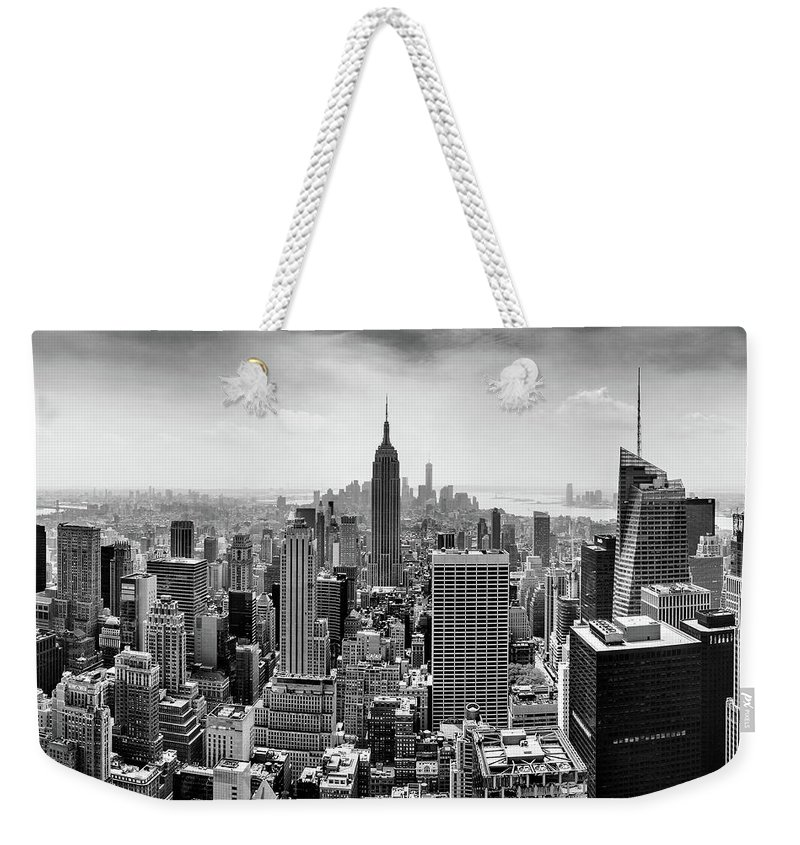Empire State Building Weekender Tote Bag featuring the photograph Classic New York by Az Jackson