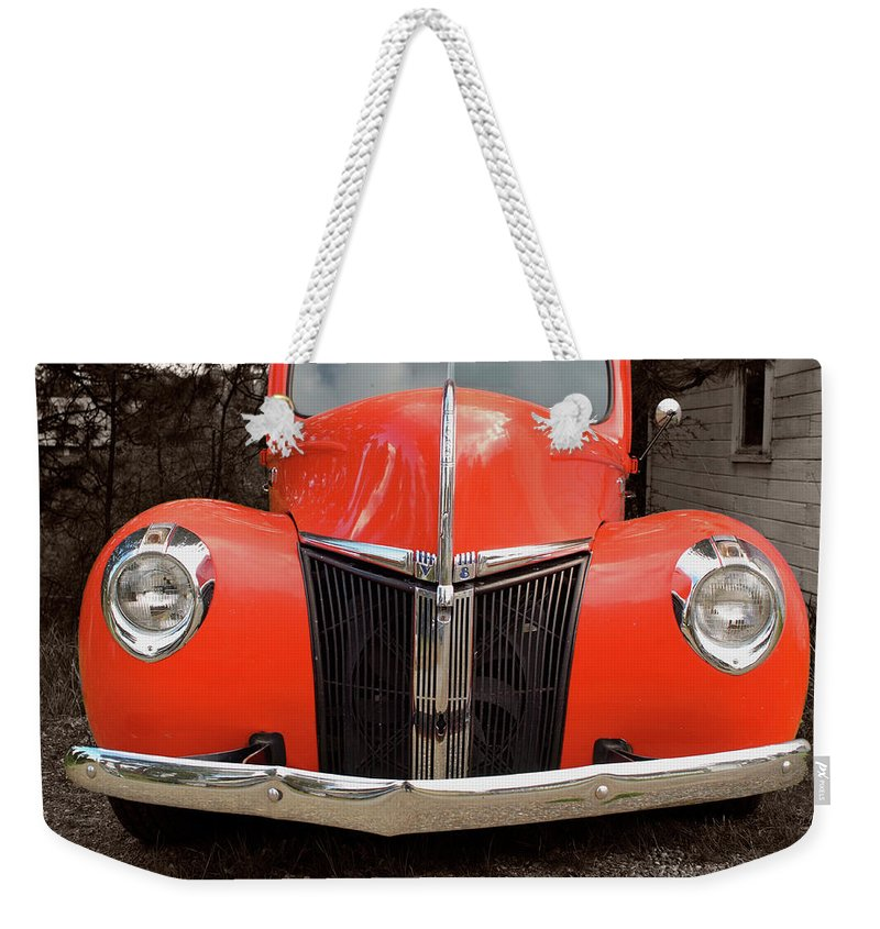 Classic Car Weekender Tote Bag featuring the photograph Classic Pick Up Truck by Herman Robert