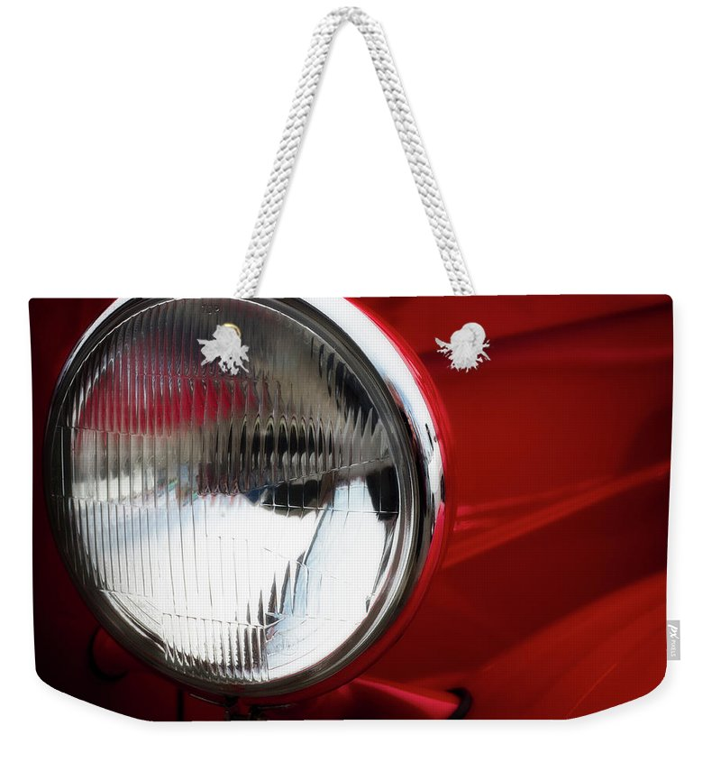 Auto Weekender Tote Bag featuring the photograph Classic Red by David Kay