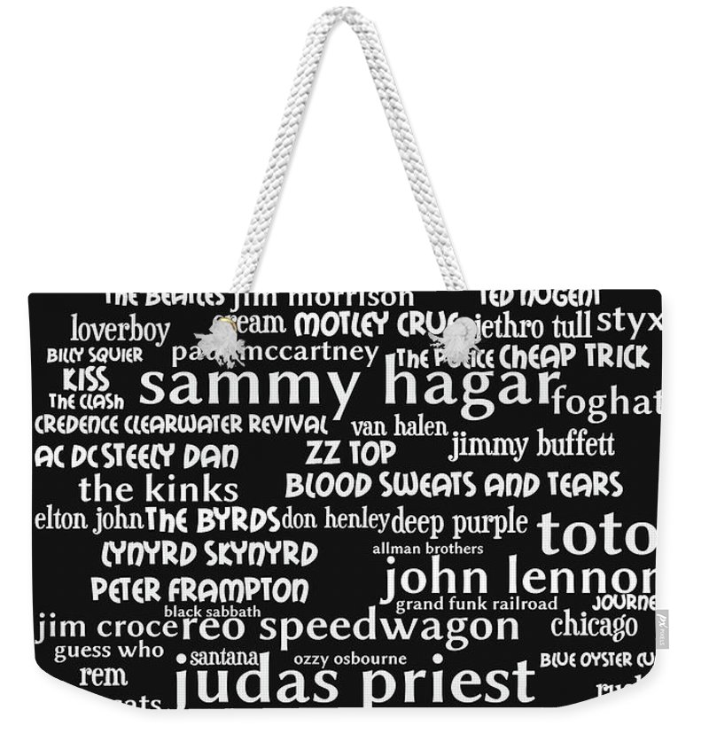 Wingsdomain Weekender Tote Bag featuring the photograph Classic Rock bw by Wingsdomain Art and Photography