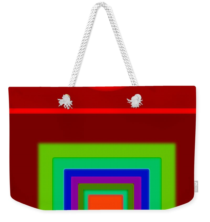 Classical Weekender Tote Bag featuring the digital art Classic Terracota by Charles Stuart