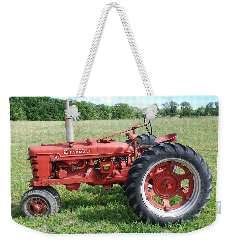 Farm Weekender Tote Bag featuring the photograph Classic Tractor by Richard Bryce and Family